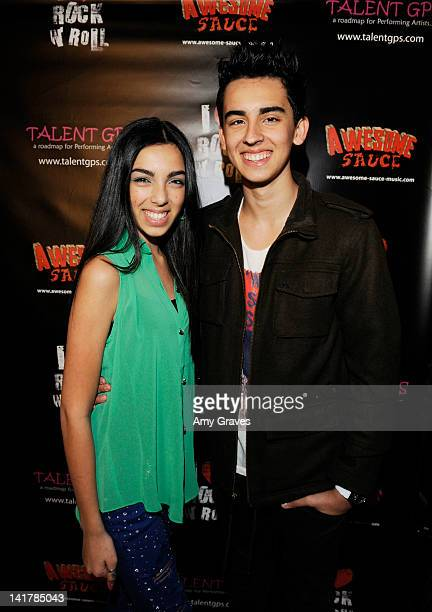 Savannah Hudson and Brandon Hudson attend the Shamrock and Roll Concert for St. Jude Children's Hospital on March 17, 2012 in Los Angeles, California.