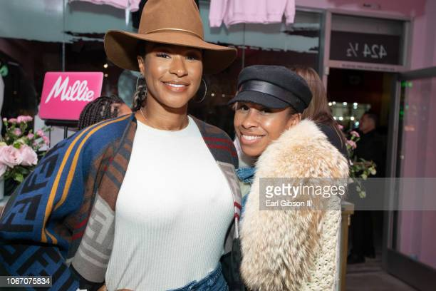 Savannah James and guest attend The Serena Collection PopUp VIP Reception at Melody Eshani on November 30 2018 in Los Angeles California