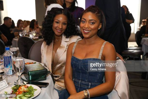 Savannah James and Jada Paul pose together as The National Basketball Wives Association presents the first annual Women's Empowerment Summit Luncheon...