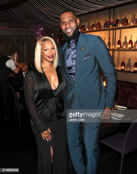 Savannah James and Lebron James attend the Klutch Sports Group More Than A Game Dinner Presented by Remy Martin at Beauty Essex on February 17 2018...
