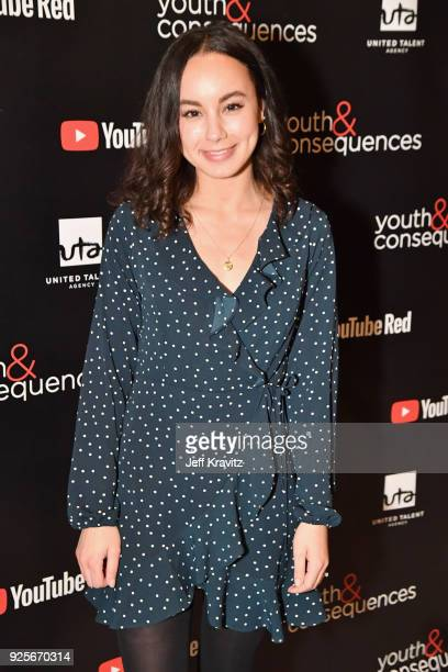 Savannah Jayde attends the YouTube Red Originals Series 'Youth Consequences' screening on February 28 2018 in Los Angeles California