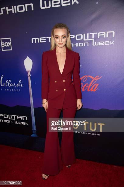 Savannah Kennick attends Metropolitan Fashion Week's Closing Gala And Fashion Awards at Los Angeles City Hall on October 6 2018 in Los Angeles...