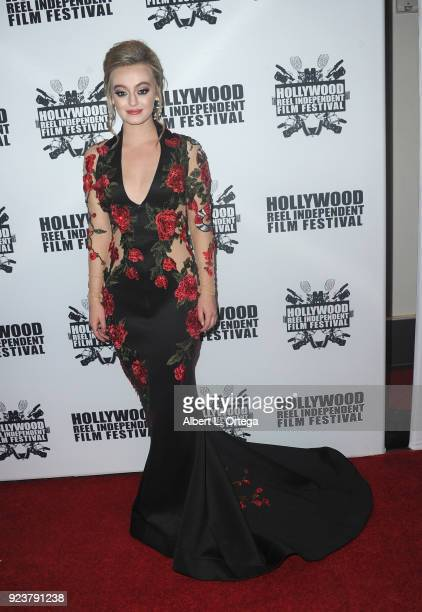 Savannah Kennick attends the 17th Annual Hollywood Reel Independent Film Festival Award Ceremony Red Carpet Event held at Regal Cinemas LA LIVE...