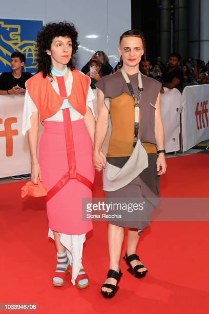 Savannah Knoop and guest attend the 'Jeremiah Terminator LeRoy' Premiere during 2018 Toronto International Film Festival at Roy Thomson Hall on...