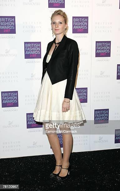 Savannah Miller attends the British Fashion Awards at the Royal Horticultural Halls on November 27, 2007 in London, England.