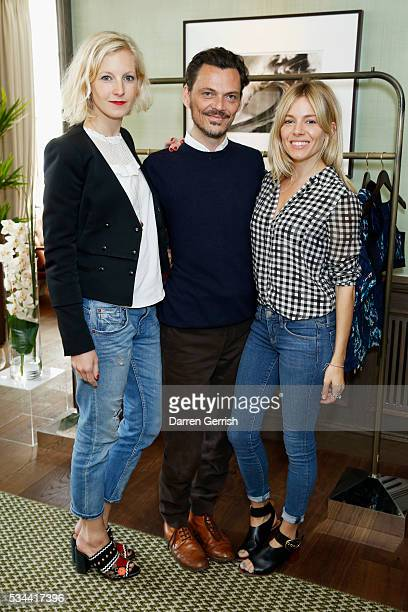 Savannah Miller Matthew Williamson and Sienna Miller attend the exclusive preview of the new USA Pro and Matthew Williamson yoga and active wear...