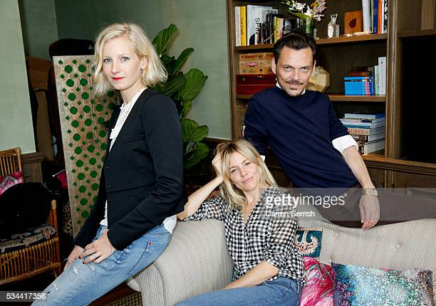 Savannah Miller Sienna Miller and Matthew Williamson attend the exclusive preview of the new USA Pro and Matthew Williamson yoga and active wear...