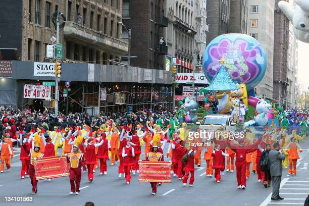 Savannah Outen and Camp Broadway attend the 85th annual Macy's Thanksgiving Day Parade on November 24 2011 in New York City