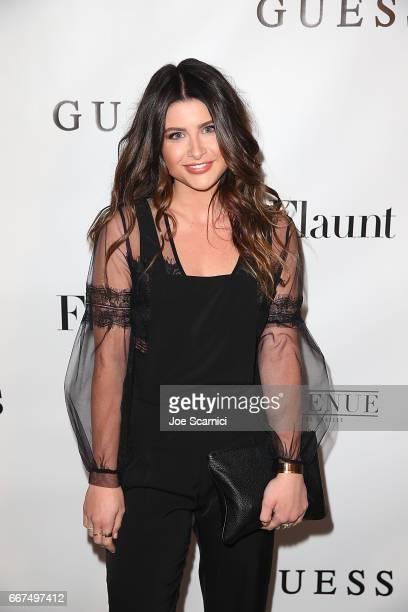 Savannah Outen arrives at the Flaunt and Guess celebration of the Alternative Facts Issue hosted by Joe Jonas and DNCE at Avenue on April 11 2017 in...