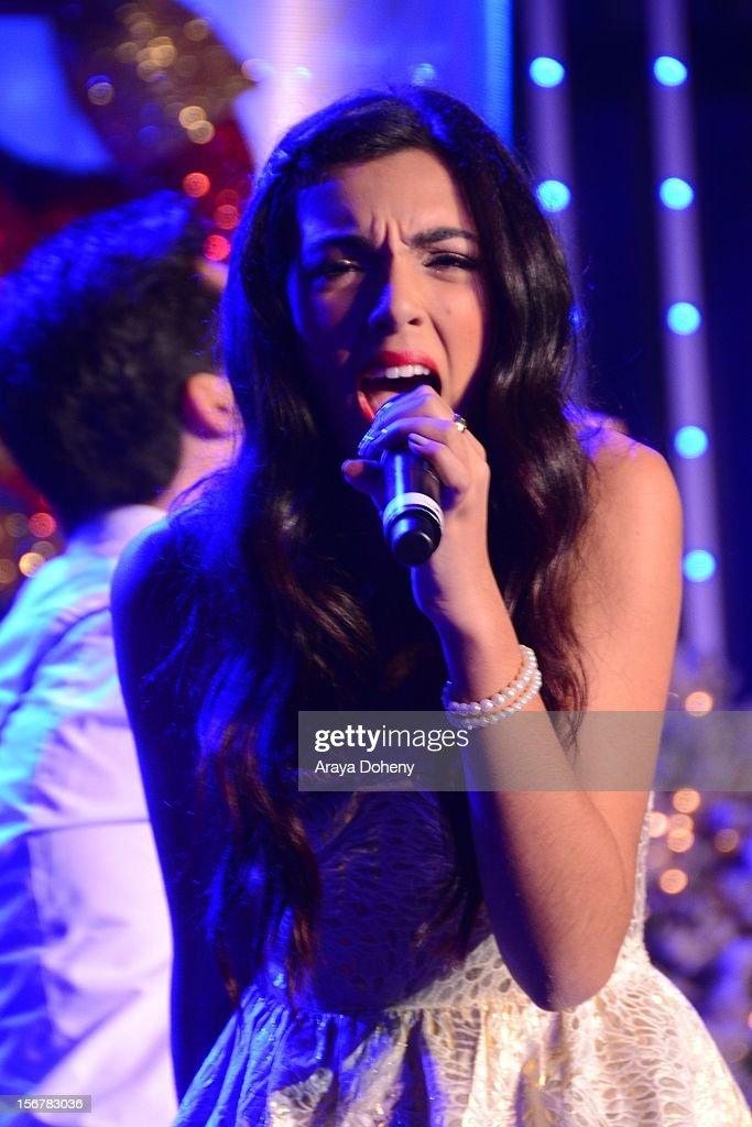 Savannah performs at the 2012 Hollywood Christmas Parade Concert at Universal CityWalk on November 20, 2012 in Universal City, California.