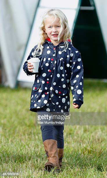 Savannah Phillips attends day 2 of the Whatley Manor International Horse Trials at Gatcombe Park on September 12 2015 in Stroud England
