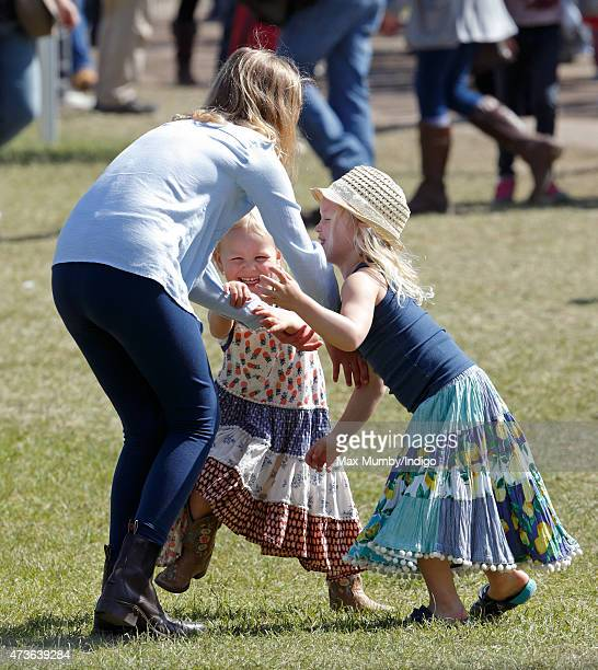 Savannah Phillips Isla Phillips and Lady Louise Windsor attend day 4 of the Royal Windsor Horse Show in Home Park on May 16 2015 in Windsor England