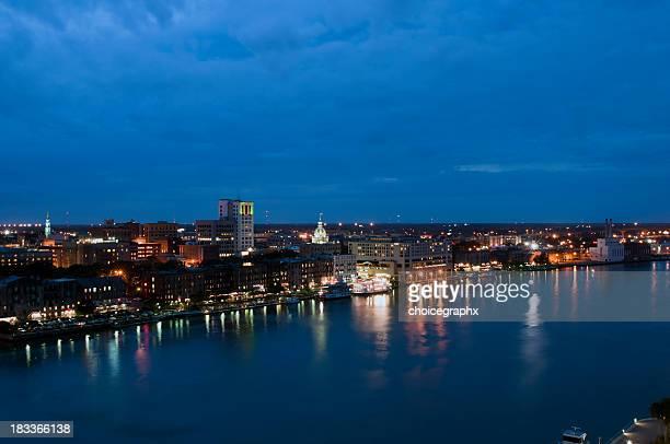 Savannah River Side at Night