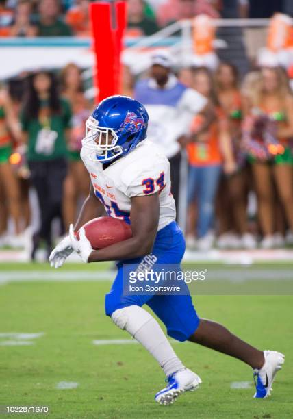 Savannah State Tigers Running Back Cedric Cole runs with the ball during the college football game between the Savannah State Tigers and the...