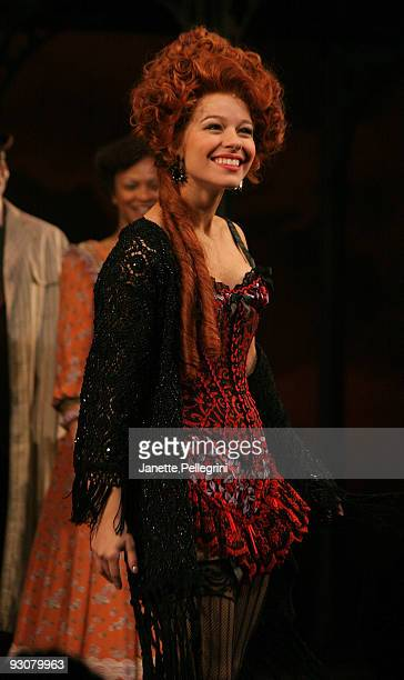 Savannah Wise attends curtain call at the Broadway opening of Rag Time at the Neil Simon Theatre on November 15 2009 in New York City