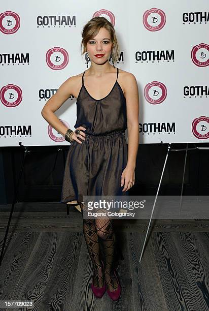 Savannah Wise attends the Gotham Magazine celebration of its November issue with actress Laura Linney star of The Details and Hyde Park on Hudson at...