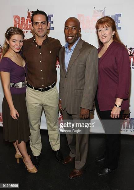 Savannah Wise Jonathan Hammond Eric Jordan Young and Donna Migliaccio attend rehearsals for the Broadway revival of Ragtime at the Hilton Theatre...
