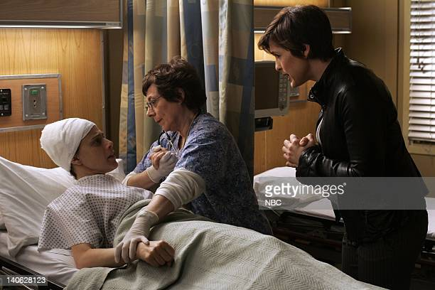 "Savant"" Episode 904 -- Pictured: Judy Kuhn as Corinne Nicholson, Mariska Hargitay as Detective Olivia Benson -- Photo by: Will Hart/NBC/NBCU Photo..."