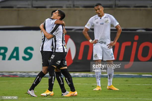 Savarino of Atletico MG celebrates after scoring a goal during a match between Atletico MG and Santos as part of Brasileirao Series A 2020 at...