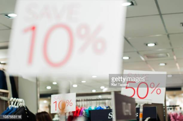 save 10 percent signage - black friday stock photos and pictures