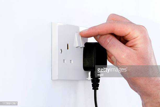 save energy - turning on or off stock pictures, royalty-free photos & images