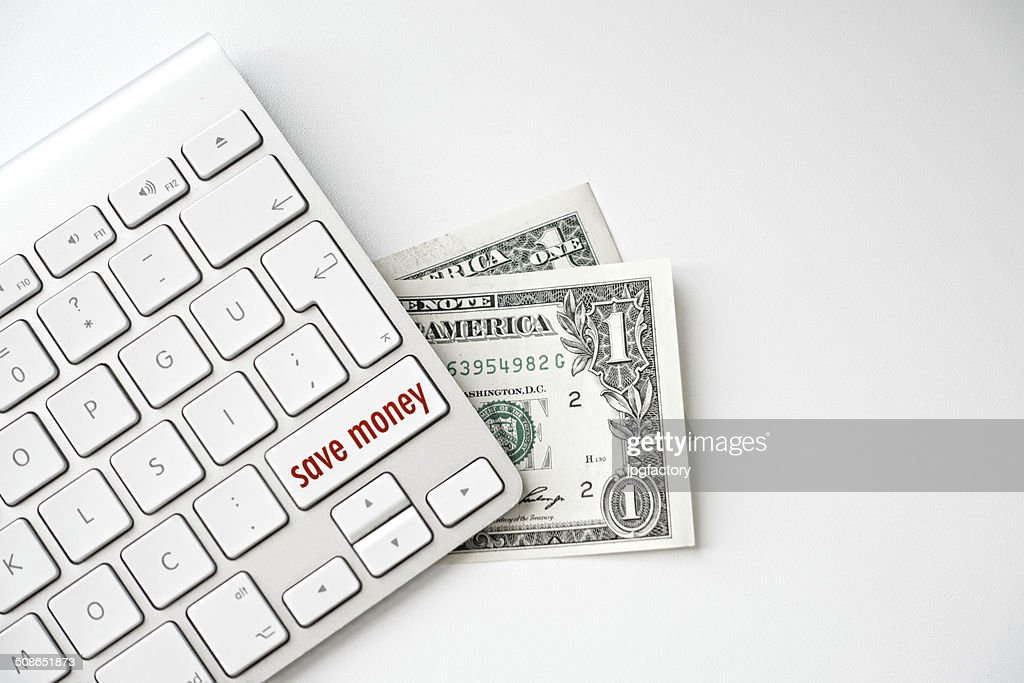 save money message on keyboard : Stock Photo