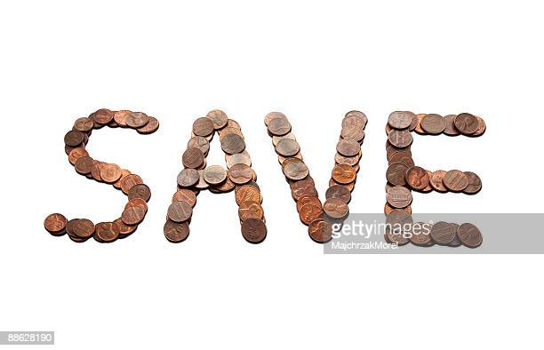 Save spelling out with pennies