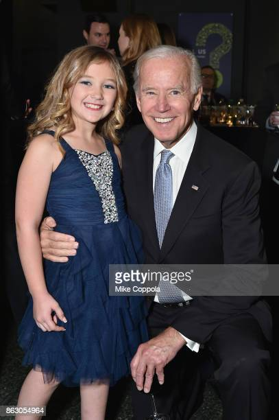 Save the Children beneficiary Anna Marie and Vice President Joe Biden attend the 5th Annual Save the Children Illumination Gala at the American...
