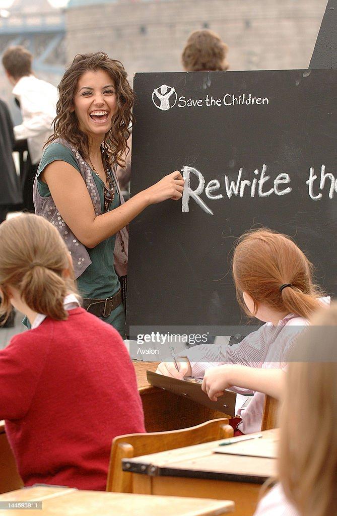 Save The Children education ambassador Katie Melua helps