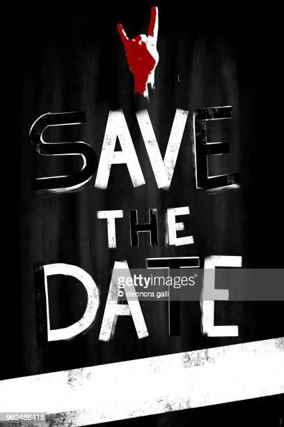 save the date - パンクロック ストックフォトと画像