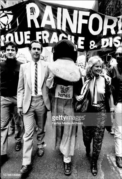 Save The Diantree March In The City Led By Dianne Cilento and Bob ***** Brown And Left to Right Robert Tickner MHR Bob Brown Diane Cilenton and...