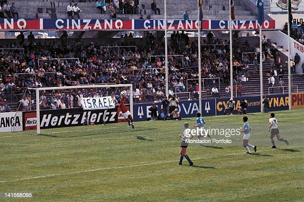 Saved by the German goalkeeper Sepp Maier in the semi final match of the World Cup Championship played between Italy and West Germany with the final...