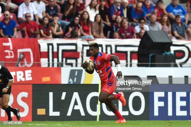 Savenaca Rawaca of Beziers during the French Pro D2 match between Beziers and Soyaux Angouleme on August 17 2018 in Beziers France