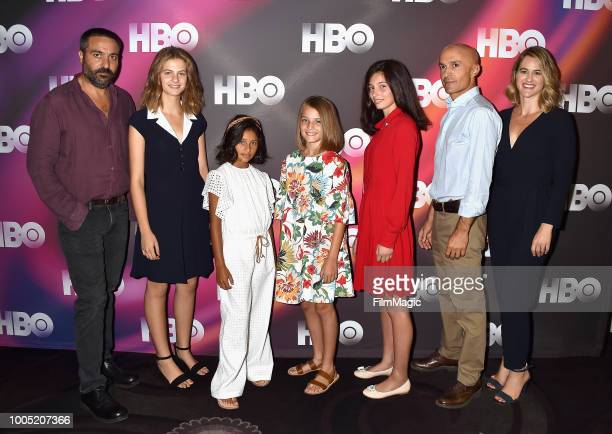 Saverio Costanzo Margherita Mazzucco Ludovica Nasti Elisa Del Genio Gaia Girace Lorenzo Mieli and Jennifer Schuur attend HBO Summer TCA 2018 at The...