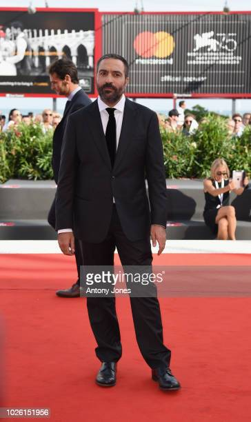 Saverio Costanzo walks the red carpet ahead of the 'My Brilliant Friend ' screening during the 75th Venice Film Festival at Sala Grande on September...