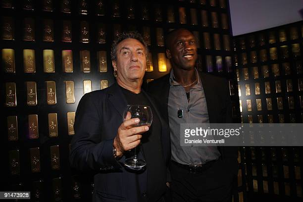 Saverio Moschillo and Clarence Seedorf attend the John Richmond Party as part of the Paris Womenswear Fashion Week Spring/Summer 2010 at the VIP Room...