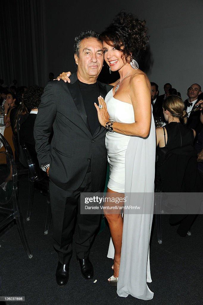 Saverio Moschillo and Gabriella Dompe attend amfAR MILANO 2011 at La Permanente on September 23, 2011 in Milan, Italy.