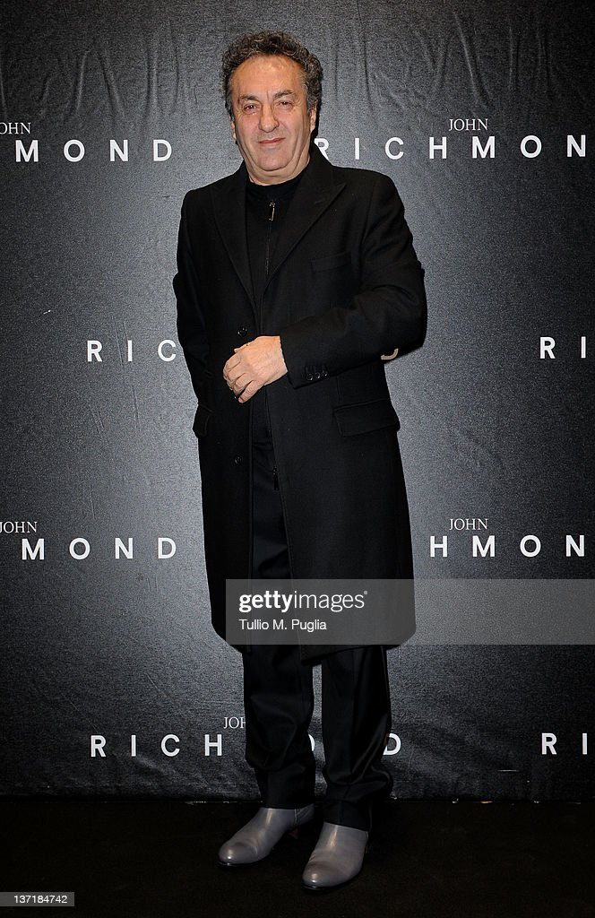 Saverio Moschillo arrives at John Richmond fashion show as part of Milan Fashion Week Menswear Autumn/Winter 2012 on January 16, 2012 in Milan, Italy.