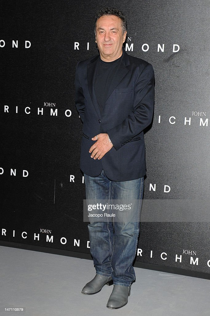Saverio Moschillo arrives at the John Richmond show as part of Milan Fashion Week Menswear Spring/Summer 2013 on June 25, 2012 in Milan, Italy.