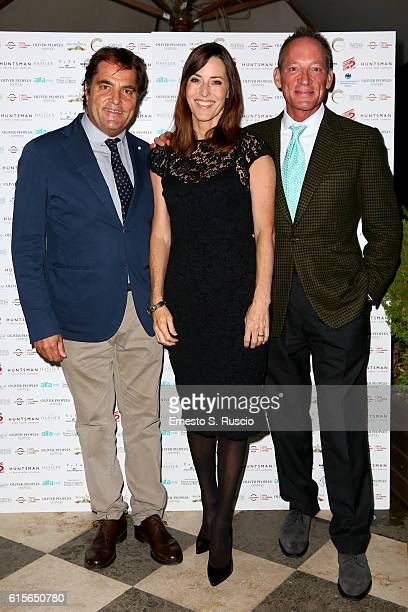 Saverio Vallone Cecilia Peck and Anthony Peck attend 'A Conversation With Gregory Peck' during the 11th Rome Film Festival at Auditorium Parco Della...
