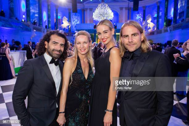 Saverio Vitelli, Sabine Vitelli, Alexandra Hauthaler, Christian Sturmayr during the Fete Imperiale 2018 on June 29, 2018 in Vienna, Austria.