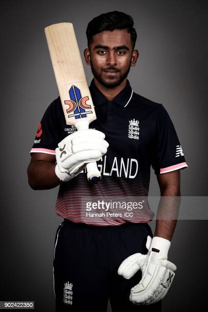 Savin Perera poses during the England ICC U19 Cricket World Cup Headshots Session at Rydges Christchurch on January 8 2018 in Christchurch New Zealand