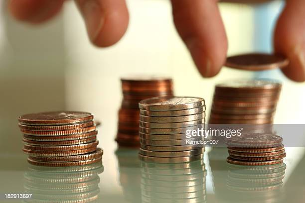 saving coins - dime stock pictures, royalty-free photos & images