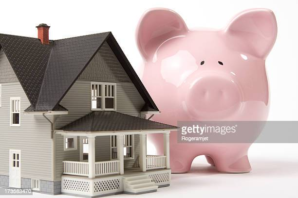 saving for your home - bringing home the bacon stock pictures, royalty-free photos & images