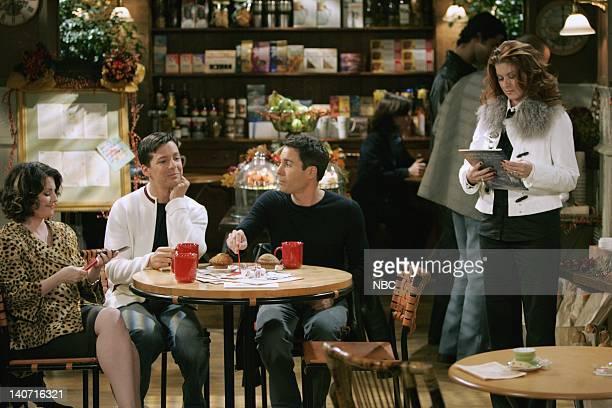 WILL GRACE 'Saving Grace Again Pt 1' Episode 8 Pictured Megan Mullally as Karen Walker Sean Hayes as Jack McFarland Eric McCormack as Will Truman...