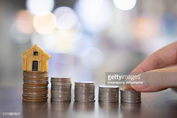 saving money for house - debt stock pictures, royalty-free photos & images