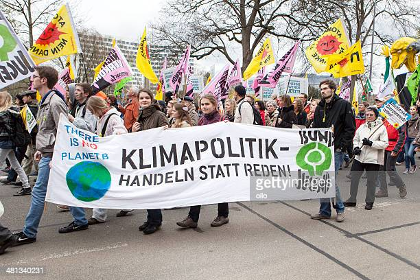 Energiewende retten.  Demonstration in Wiesbaden, Deutschland