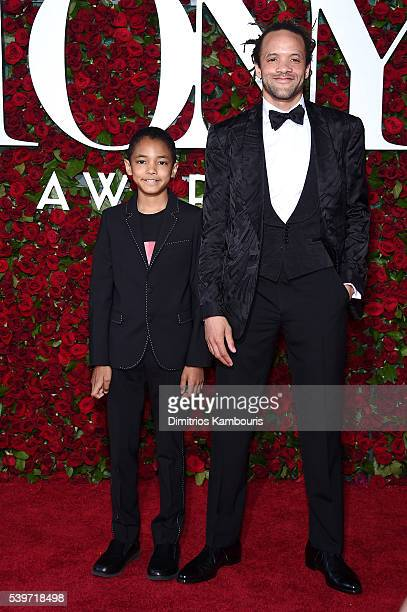 Savion Glover and Chaney Glover attend the 70th Annual Tony Awards at The Beacon Theatre on June 12 2016 in New York City