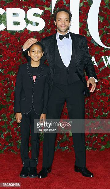 Savion Glover and Chaney Glover attend the 70th Annual Tony Awards at Beacon Theatre on June 12 2016 in New York City