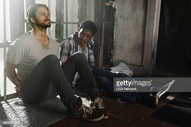 GRACELAND Savior Complex Episode 308 Pictured Aaron Tveit as Mike Warren Mahedi Rakib as Gusti